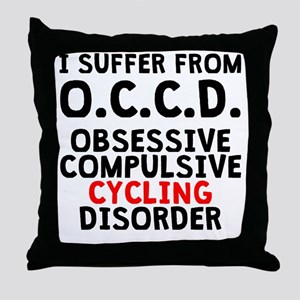 Obsessive Compulsive Cycling Disorder Throw Pillow