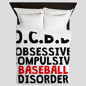 Obsessive Compulsive Baseball Disorder Queen Duvet