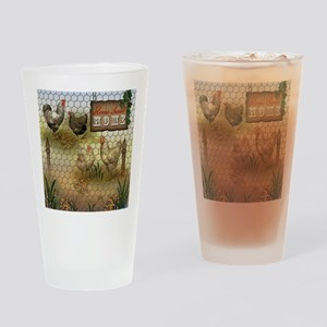 Home Sweet Home Chickens and Rooste Drinking Glass