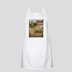 Home Sweet Home Chickens and Roosters Apron