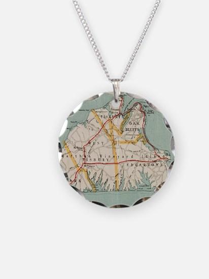 Vintage Map of Martha's Vine Necklace