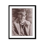 Cowboy Sketch Framed Panel Print