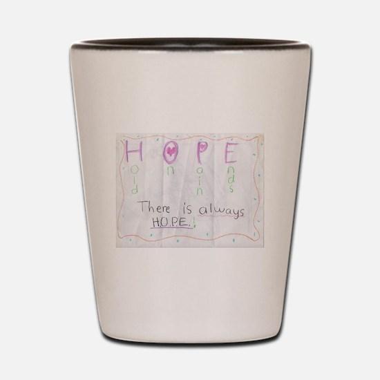 H.O.P.E.  Shot Glass