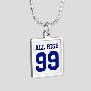 ALL RISE 99 Silver Square Necklace