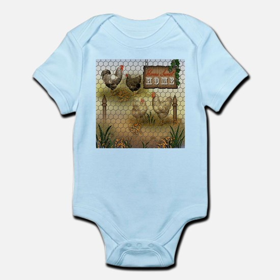 Home Sweet Home Chickens and Roosters Body Suit