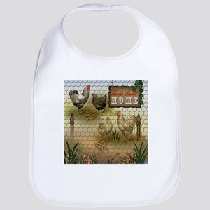 Home Sweet Home Chickens and Roosters Bib
