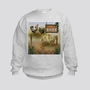 Home Sweet Home Chickens and Roost Kids Sweatshirt