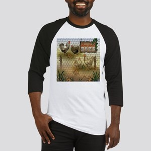 Home Sweet Home Chickens and Roost Baseball Jersey