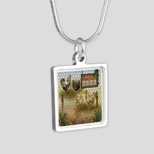 Home Sweet Home Chickens and Roosters Necklaces