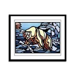Polar Bear Art Framed Panel Print