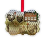 Chicken Picture Frame Ornaments