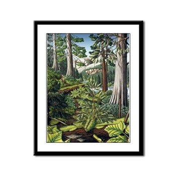 Canadian Landscape Painting Framed Panel Art Print