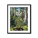 Canadian Landscape Painting Framed Panel Art Print