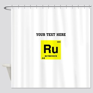 Custom Ruthenium Shower Curtain