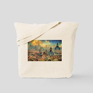 Rome Skyline - Impasto Painting Tote Bag