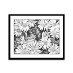 Flowers Sketch Art Framed Panel Art Print