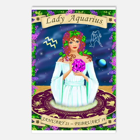 Lady Aquarius Postcards (Package of 8)