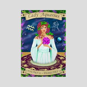 Lady Aquarius Rectangle Magnet