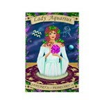 Lady Aquarius Rectangle Magnet (10 pack)