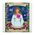 Lady Aquarius Tile Coaster
