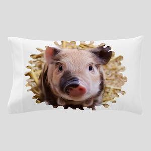 Sweet piglet,white mask Pillow Case