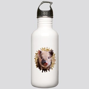 Sweet piglet,white mas Stainless Water Bottle 1.0L