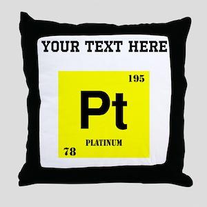 Custom Platinum Throw Pillow