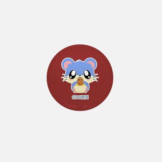 Cookie Hamster Mini Button