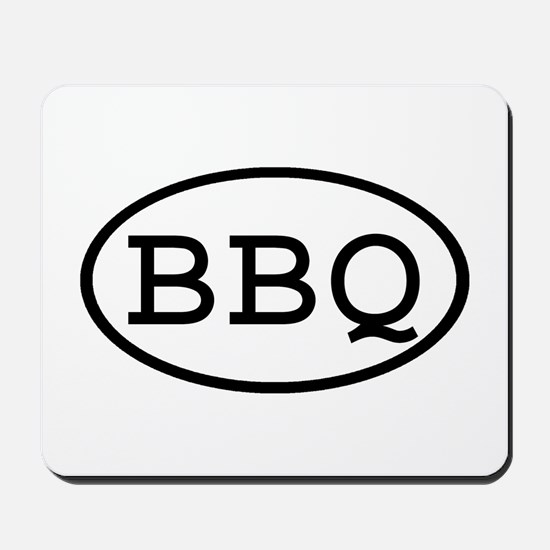 BBQ Oval Mousepad