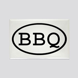 BBQ Oval Rectangle Magnet