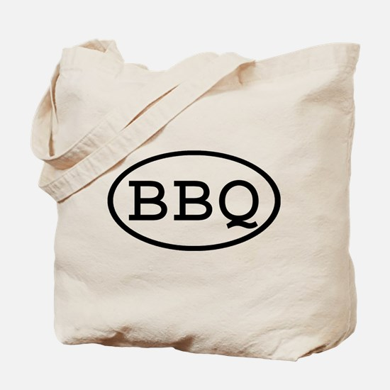 BBQ Oval Tote Bag