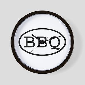 BBQ Oval Wall Clock