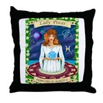 Lady Pisces Throw Pillow