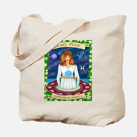 Lady Pisces Tote Bag