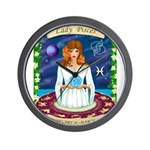 Lady Pisces Wall Clock