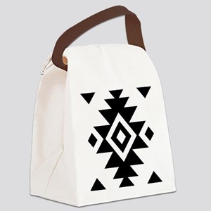 Aztec Essence BW Canvas Lunch Bag