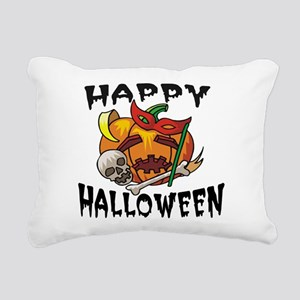 Party Pumpkin Rectangular Canvas Pillow