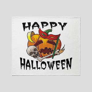 Party Pumpkin Throw Blanket