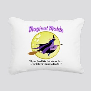 Magical Maids Rectangular Canvas Pillow