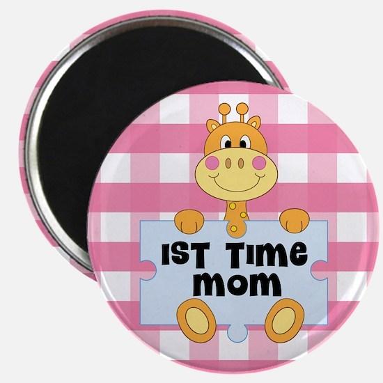 1st Time Mom baby girl giraffe Magnets