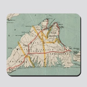 Vintage Map of Martha's Vineyard (1917) Mousepad