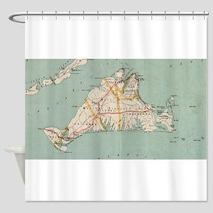 Vintage Map of Martha's Vineyard (1 Shower Curtain
