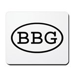 BBG Oval Mousepad