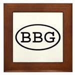 BBG Oval Framed Tile