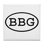 BBG Oval Tile Coaster