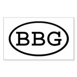 BBG Oval Rectangle Sticker