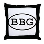 BBG Oval Throw Pillow