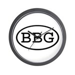 BBG Oval Wall Clock