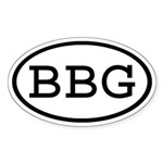 BBG Oval Oval Sticker