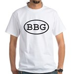 BBG Oval Premium White T-Shirt